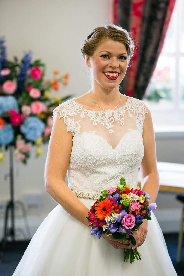 Stunning bride Esther on her wedding day.