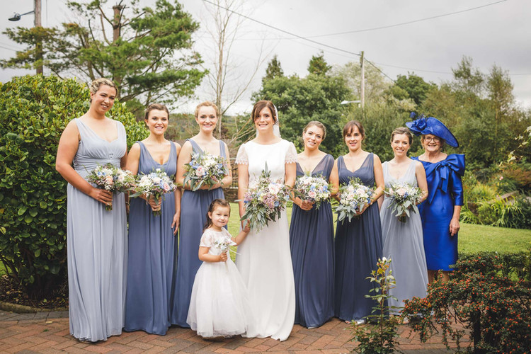 Louisa & her bridal party.