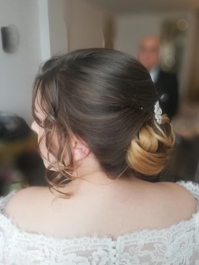Elegant bridal chignon