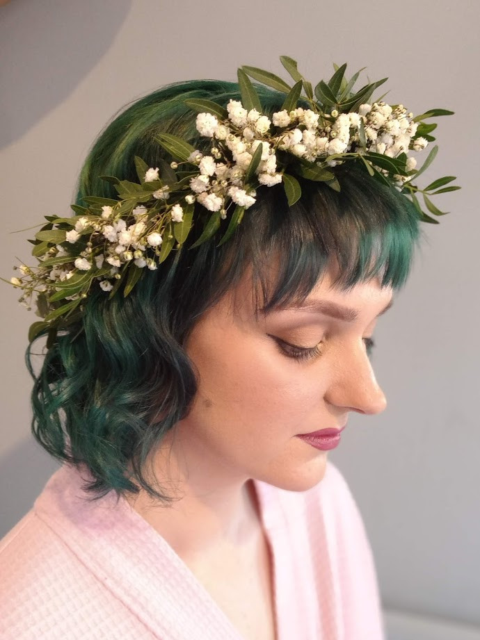 Bridesmaid flowercrown.