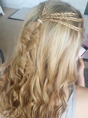 Mermaid braided hairstyle.