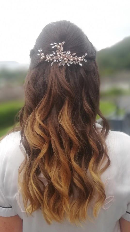 Livvy's bridal hair.