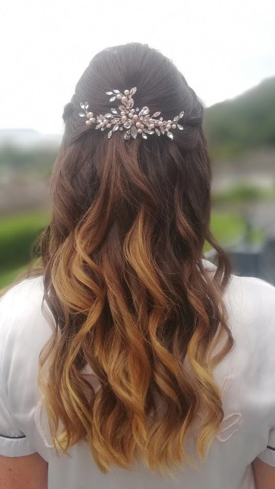 Livvy's bridal hair.