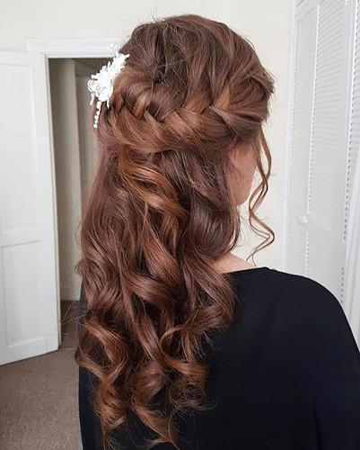 Egzi's bridal hair for her wedding day.
