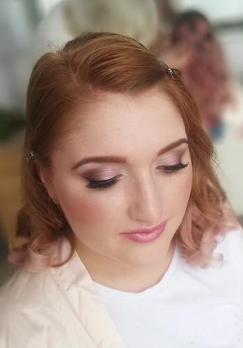Bridesmaids makeup for Sarah's wedding.
