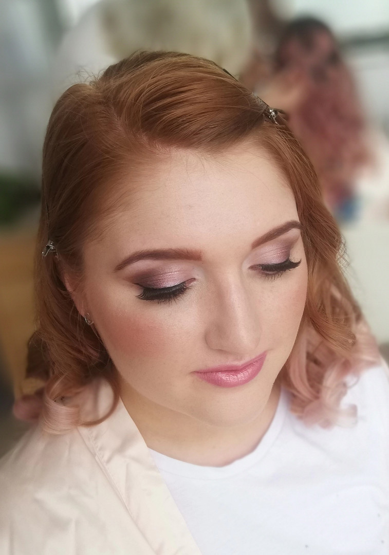 Bridesmaids makeup for Sarah's wedding.