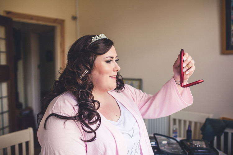 Anna on her wedding day.