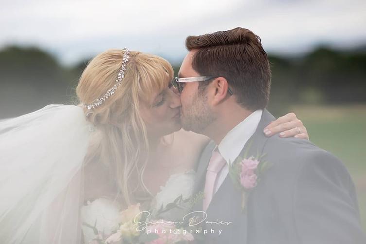 A first kiss as Mr & Mrs.