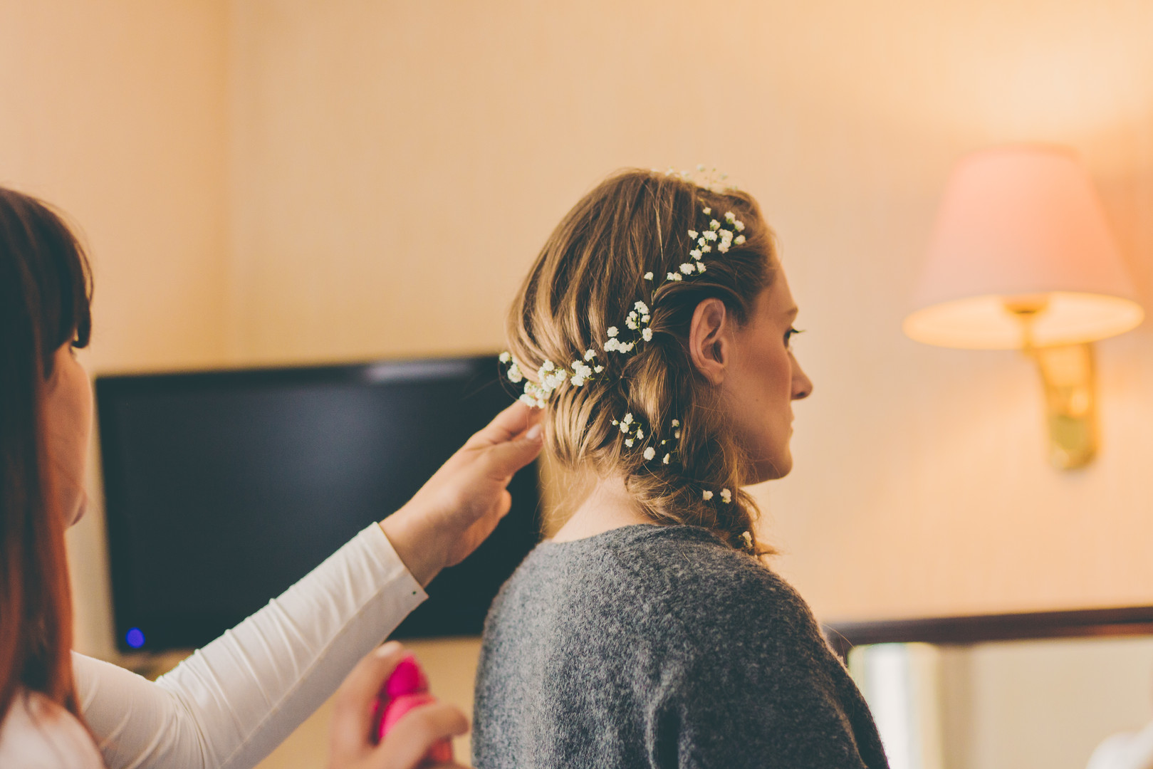 Anja's Viking inspired bridal hair.