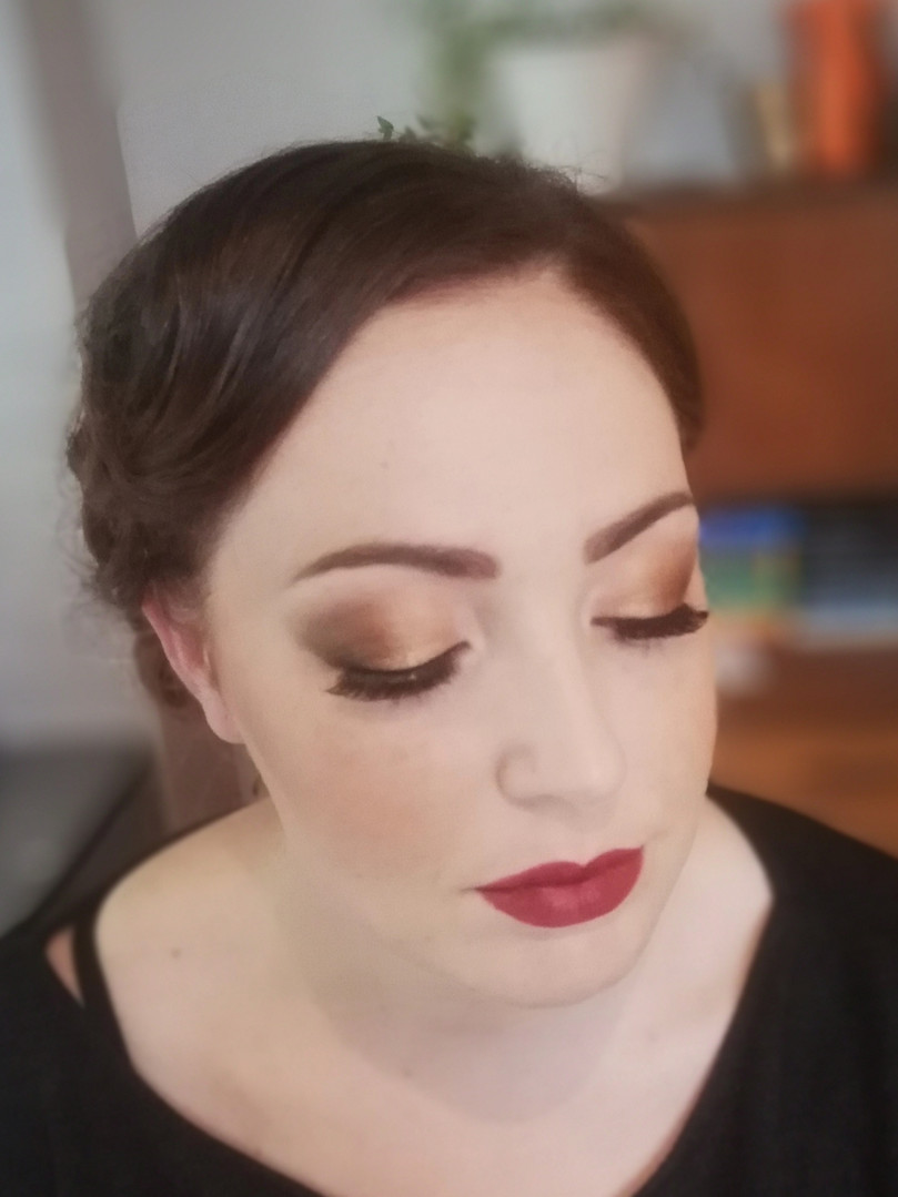 1920's inspired makeup look.