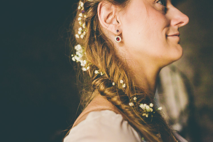 Anja's Viking inspired bridal hair.