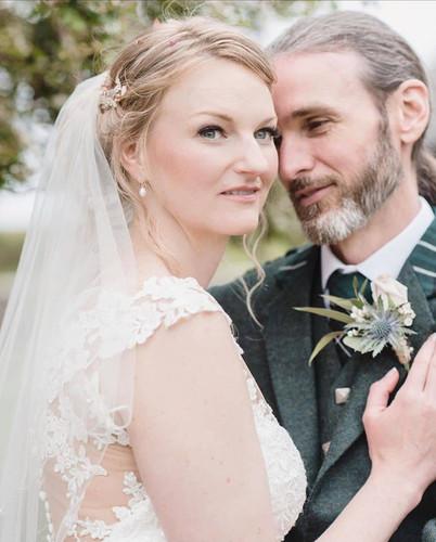 Sarah & Alan just married.