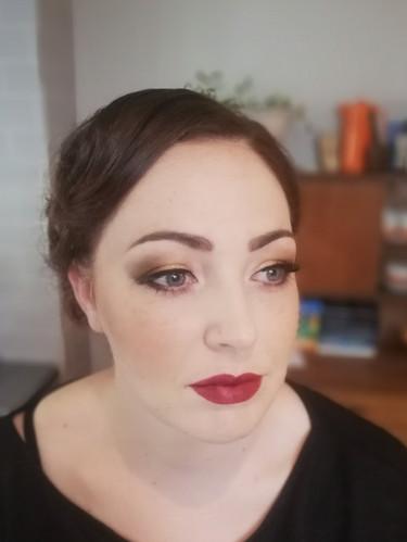 1920's vintage inspired makeup look.