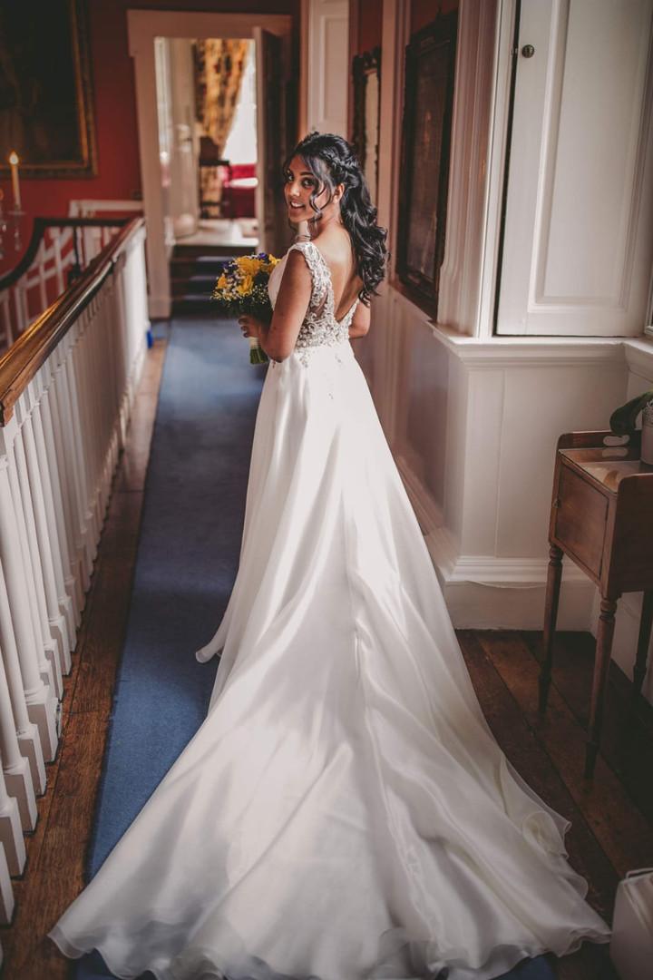 Bride Nomi on her wedding day.