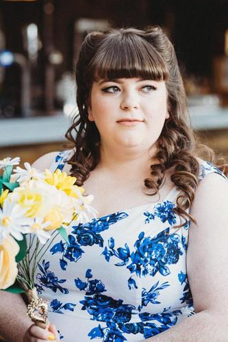 Ffion on her wedding day.