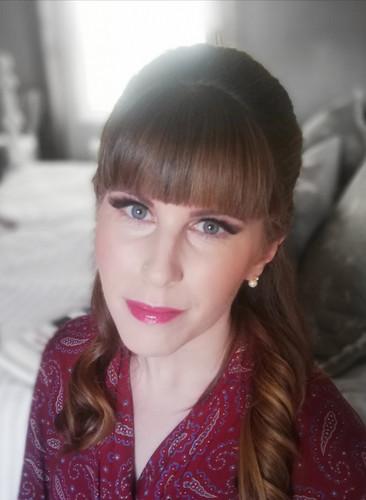 Rebecca's bridal makeup.