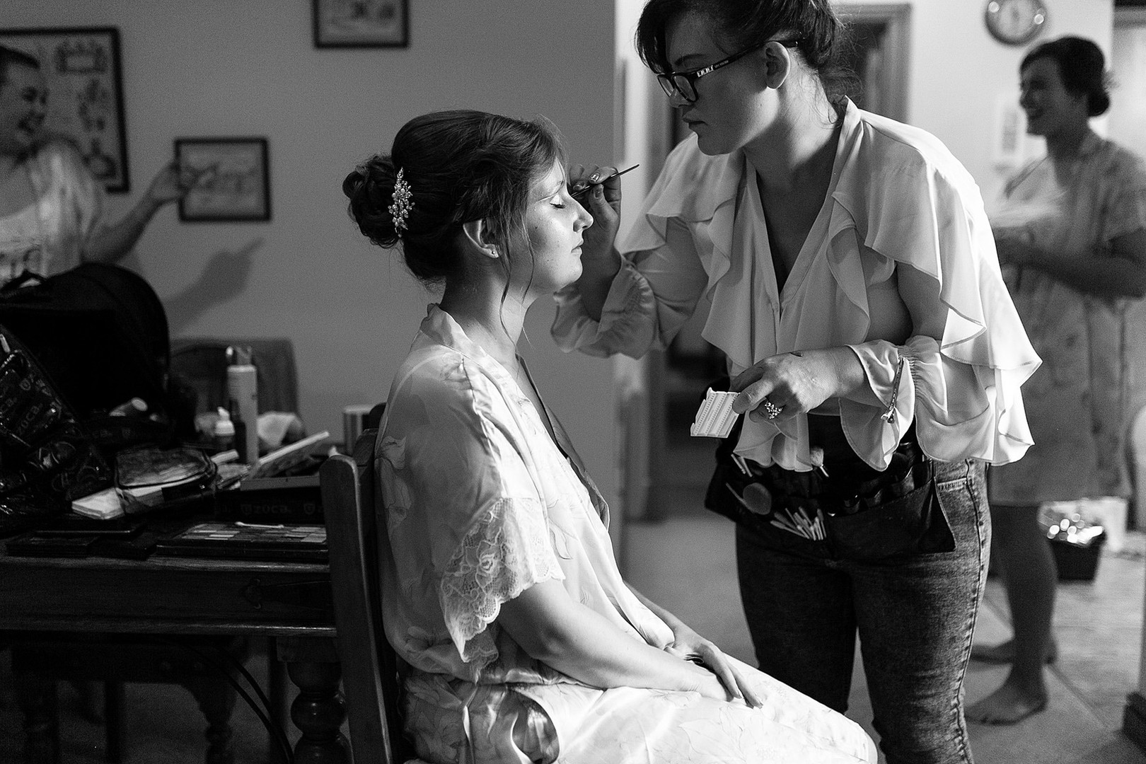 Perfecting the look for Ruth's Bridal Makeup.