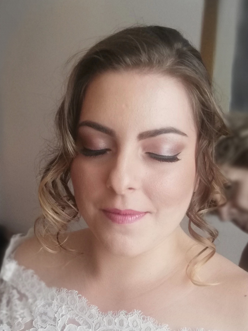 Alessia's bridal make-up.
