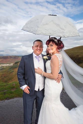 Lauran & Greg on their wedding day.