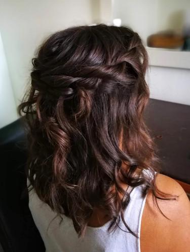Beachy hair & rope braid.