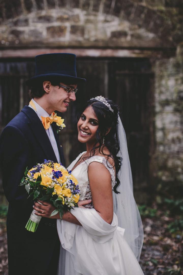 Nomi & Ed on their wedding day.