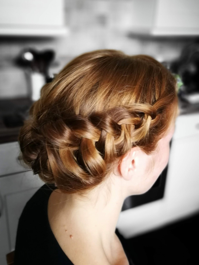 Esthers bridal hair trial.