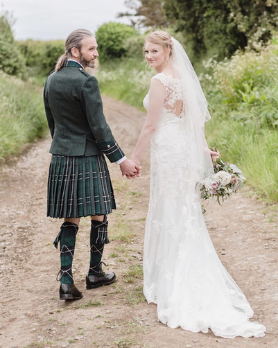 A country stroll as the new Mr & Mrs.