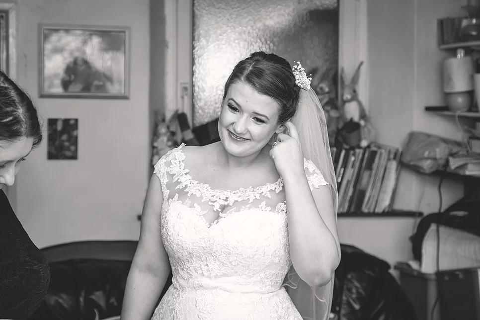 Beth on her wedding day.