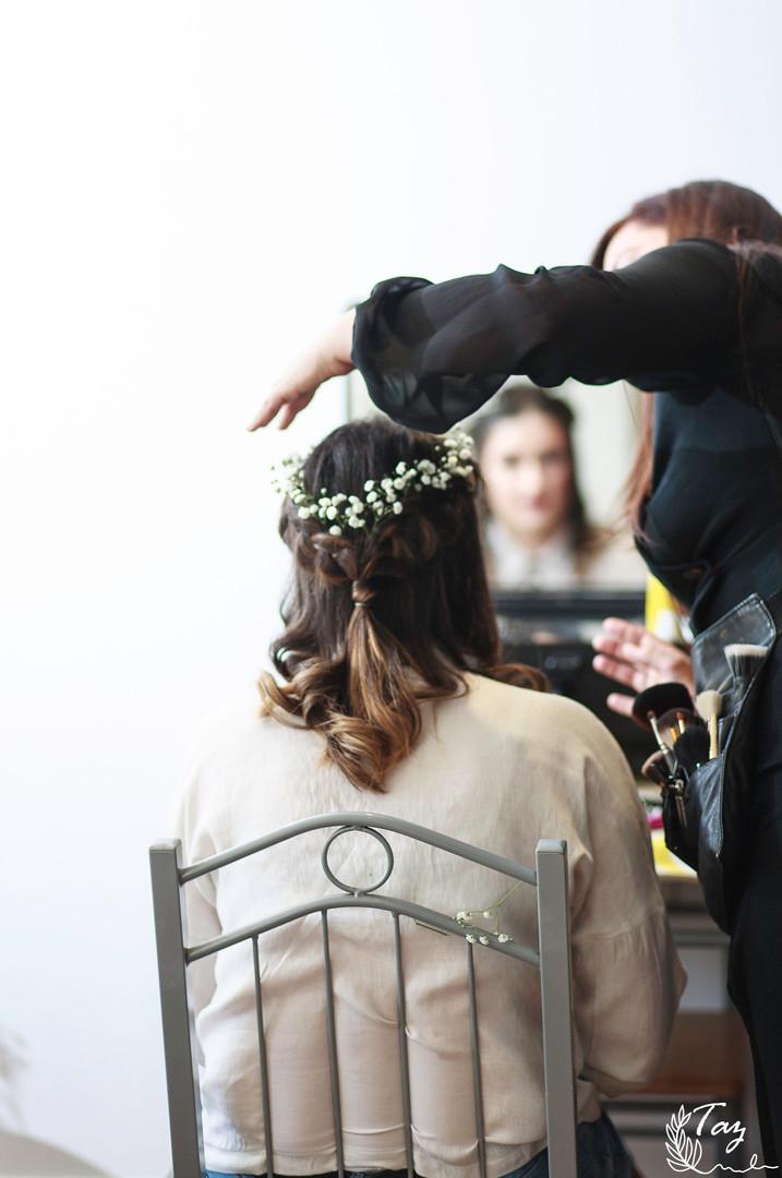 Bridal hair photoshoot.