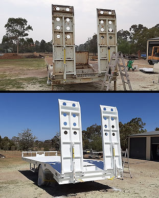 Trailer Sandblasting and Painting Tamworth Blast Monkey Mobile Abrasive Blasting