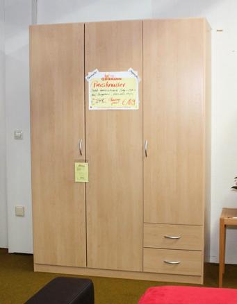 Kleiderschrank Bergahorn 3-türig