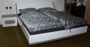 Schlafzimmer Weiß/Wildeiche