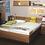 Thumbnail: Schlafzimmer mit Schrank Wildeiche massiv