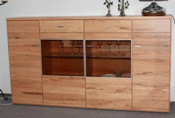 Highboard Kernbuche massiv