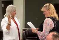 Getting Sworn in for the 2018-2020 Term by JP Stacy Spurlock