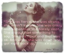 She was fierce