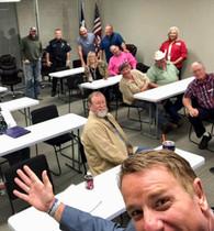 Senator-Elect Pat Fallon and some of group at Nov Meeting 2018