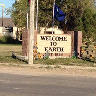"""Earth, Texas """"Welcome"""" sign"""