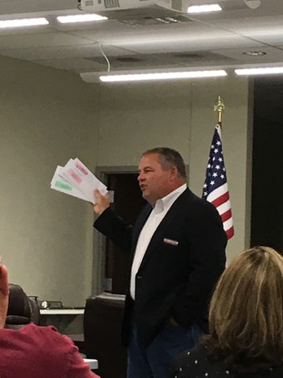 County Judge-Elect Keith Umphress, co-presenter of Property Tax training