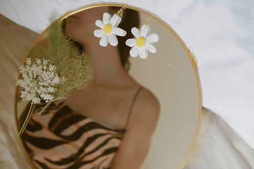 Polymer Clay Earrings - daisy flower