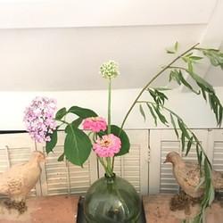 vintage clay birds vase