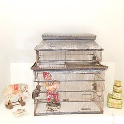 vintage chateaux birdcage, gnome