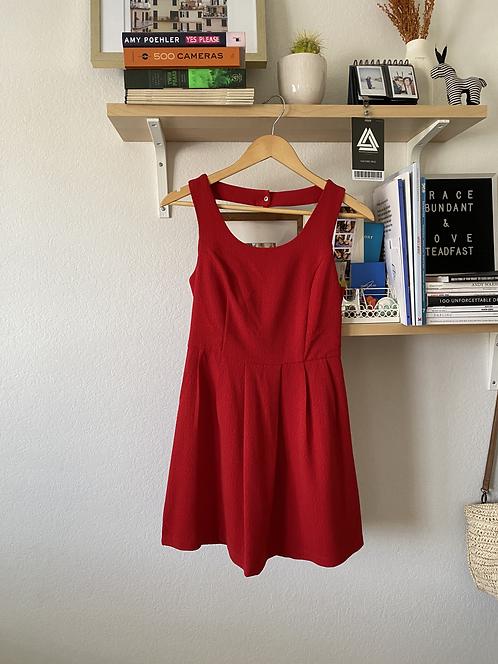 Forever21 Red Open Back Dress