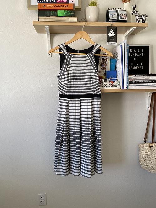 Vintage Style Grey/White Dress - originally $168