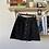 Thumbnail: Topshop buttondown black jean skirt