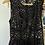 Thumbnail: Black Polka dot dress, nude lined