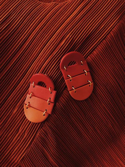 Ombré Earrings in Red