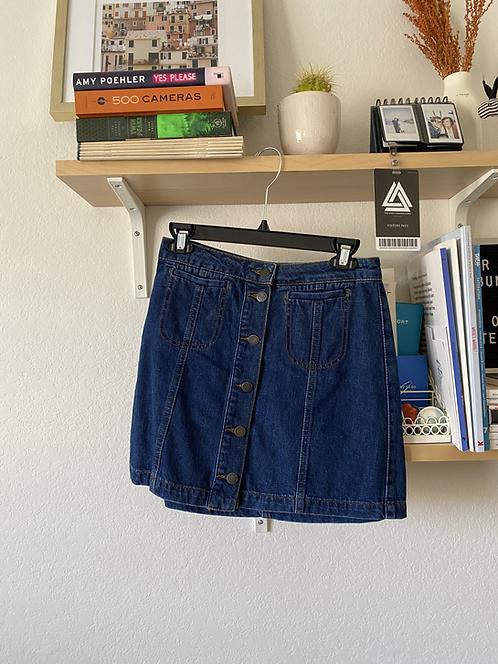 Topshop Classic Denim Skirt