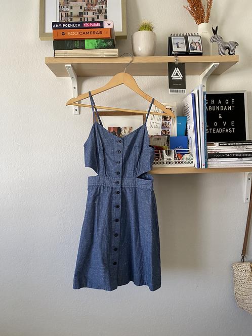 Madewell Denim Dress with Cutouts