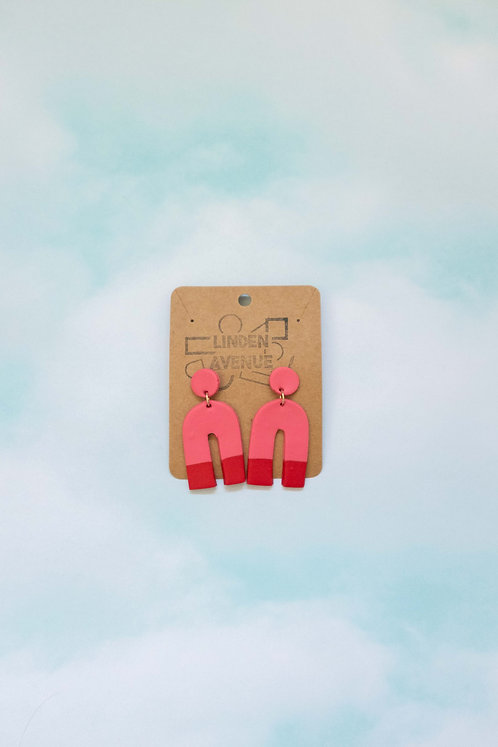 Dusty Rose and Pomegranate Dangles